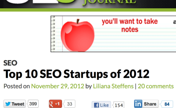 SEO Journal Top 10 of 2012