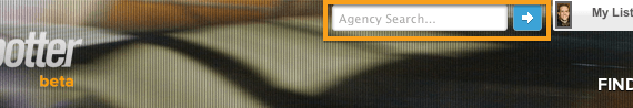 Agency Search Bar