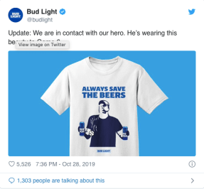Bud Light beer guy; example of real-time marketing