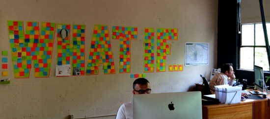 The wall of Portland advertising agency DHX