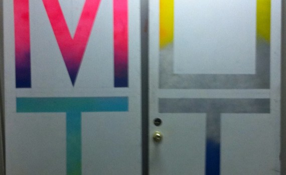 Doors at Portland advertising agency Mutt.