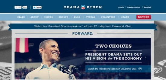 blue state digital's political marketing campaign with obama