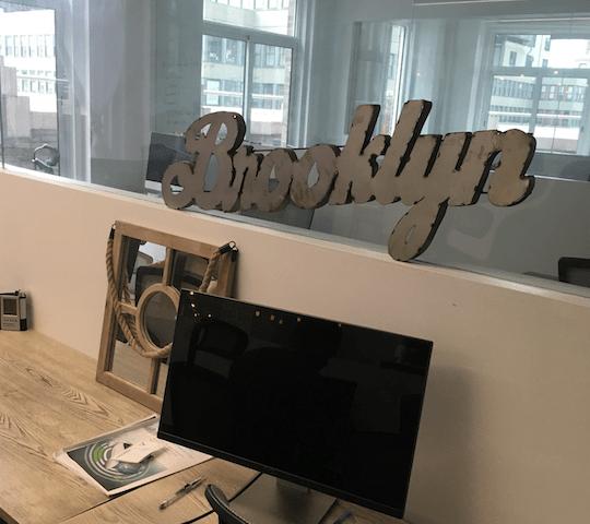 bklyn web design agency office sign