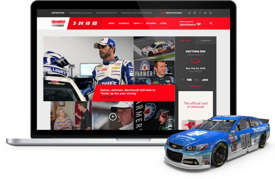 New digital platform for fans for Hendrick Motorsports by UNION