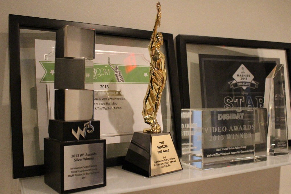 A few of Vert's awards