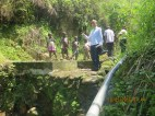 A water supply source at the slopes of the Rwenzori mountains