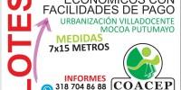 Venta de Lotes en Villa Docente – Mocoa