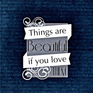 think beautiful is love