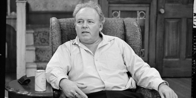"LOS ANGELES - JANUARY 25: ALL IN THE FAMILY Carroll O'Connor as Archie Bunker in ""Archie and The Quiz"". Image dated January 24, 1975. (Photo by CBS via Getty Images)"