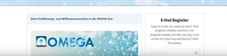 Internetseite Inhalt Omega