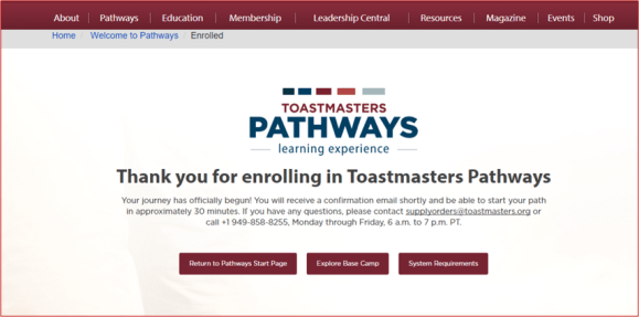 enrolment confirmation pathways