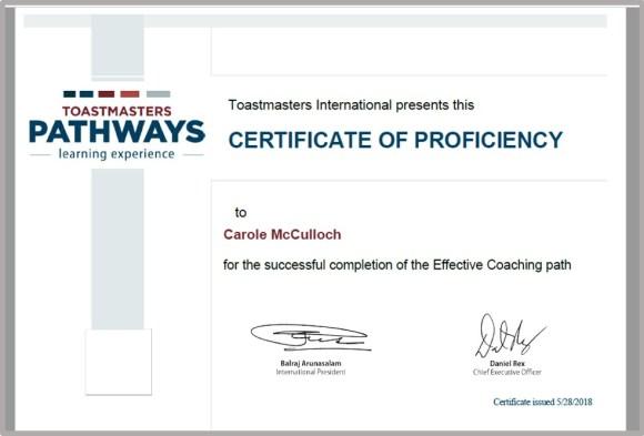 certificate of proficiency EC