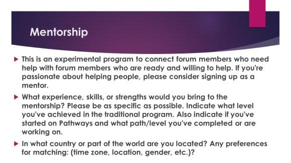 mentorship steps 1-5