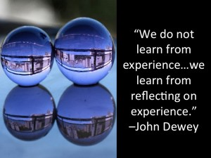 reflecting on learning experience