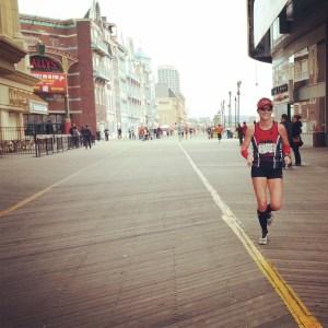 Around mile 9 of the Half Marathon.