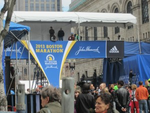 Finish Line, photo taken on Saturday.