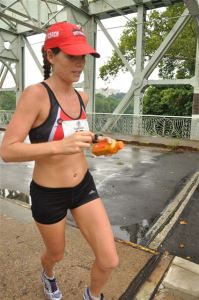 Over 30 miles into an Ultra Marathon in July 2012.