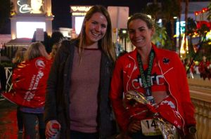 With my cousin, Kristen, after the race.