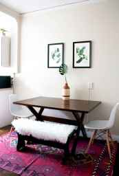 130 Small and Clean First Apartment Dining Room Ideas (115)