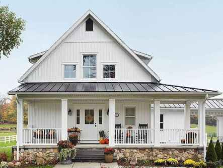 130 Stunning Farmhouse Exterior Design Ideas (110)