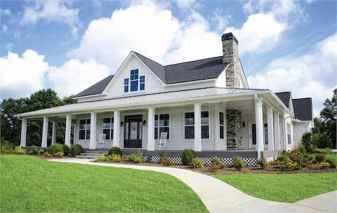 130 Stunning Farmhouse Exterior Design Ideas (129)