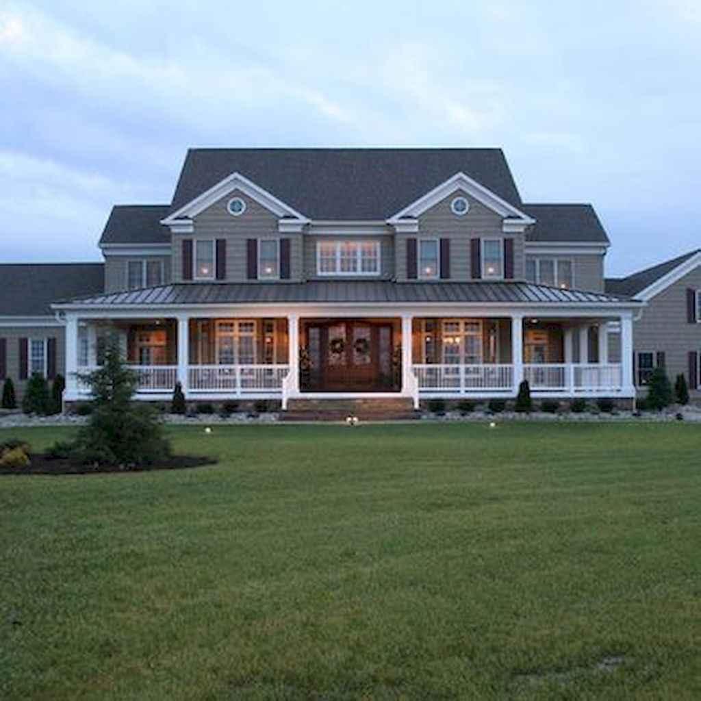 130 Stunning Farmhouse Exterior Design Ideas (132)