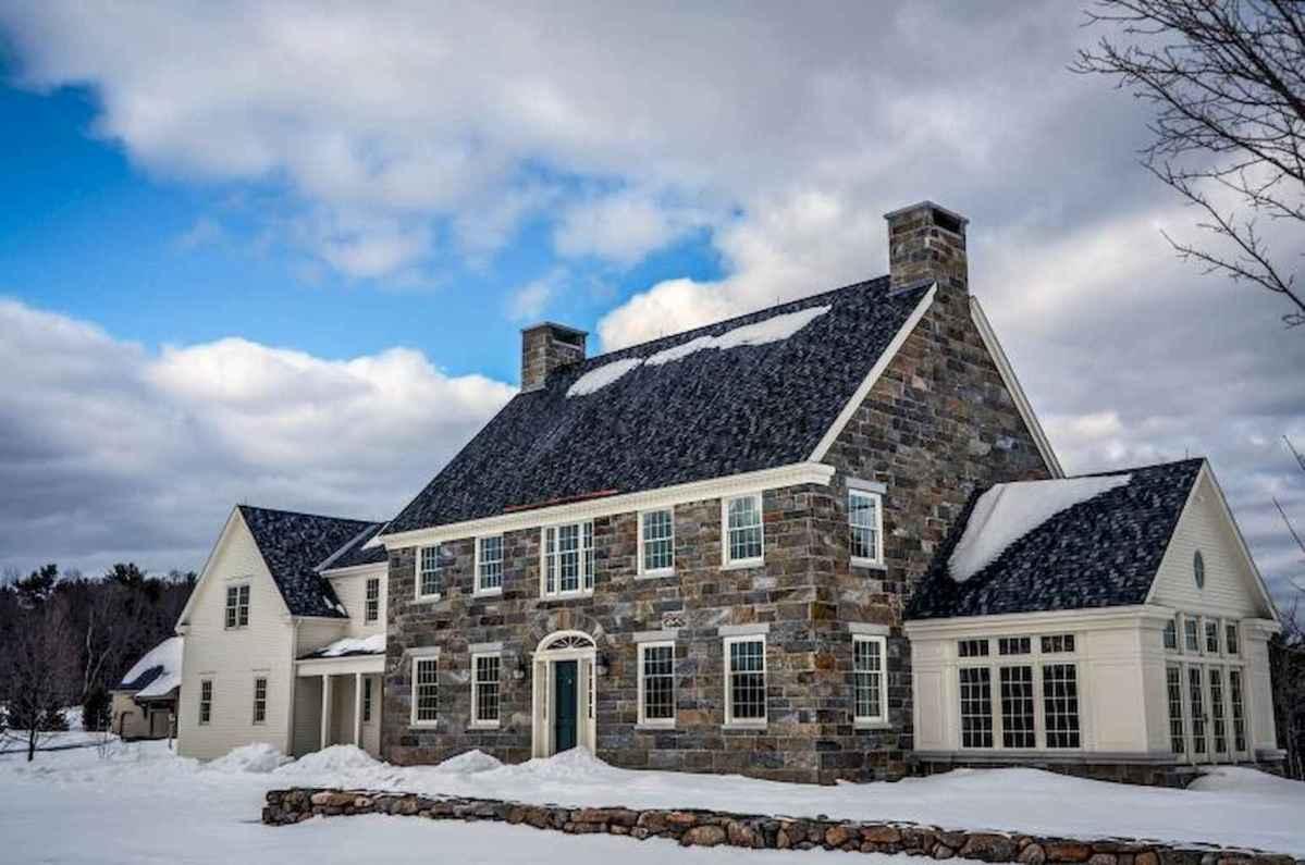 130 Stunning Farmhouse Exterior Design Ideas (57)