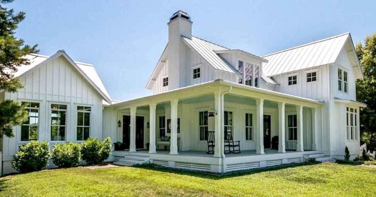 130 Stunning Farmhouse Exterior Design Ideas (97)