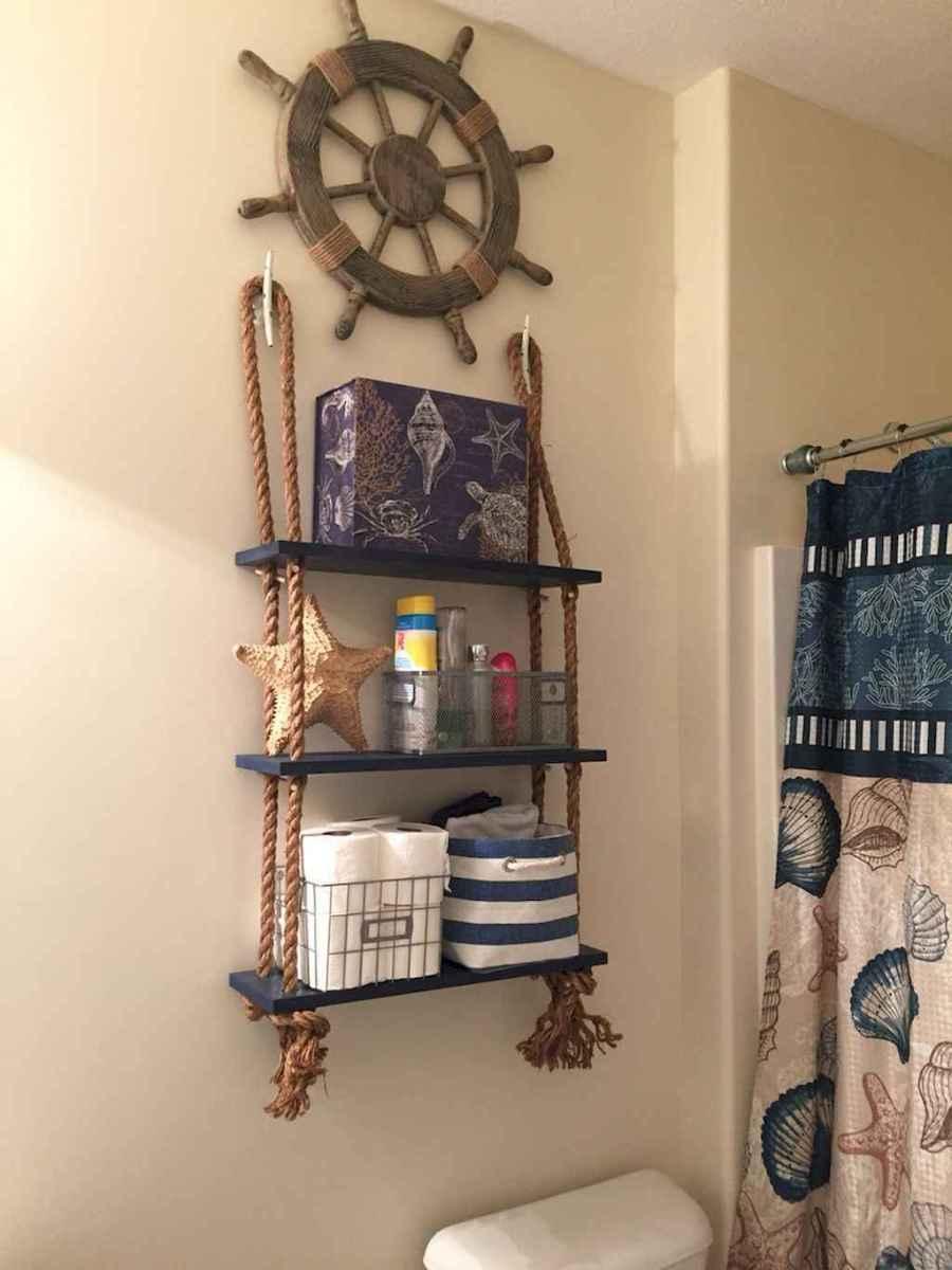 30 Amazing Coastal Nautical Bathroom Remodel Ideas (10)