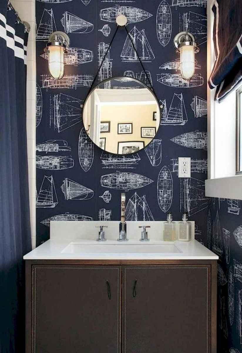 30 Amazing Coastal Nautical Bathroom Remodel Ideas (17)
