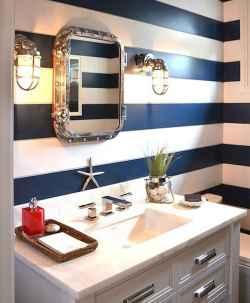 30 Amazing Coastal Nautical Bathroom Remodel Ideas (18)