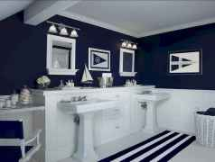 30 Amazing Coastal Nautical Bathroom Remodel Ideas (22)
