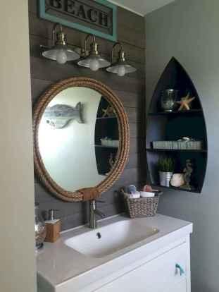 30 Amazing Coastal Nautical Bathroom Remodel Ideas (25)