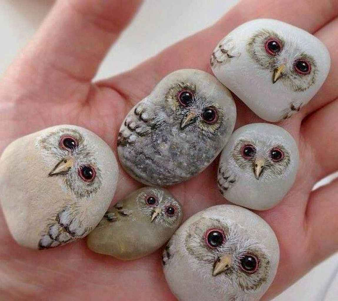 50 DIY Painted Rock Ideas for Your Home Decoration (28)
