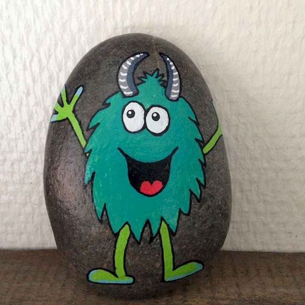 50 DIY Painted Rock Ideas for Your Home Decoration (38)