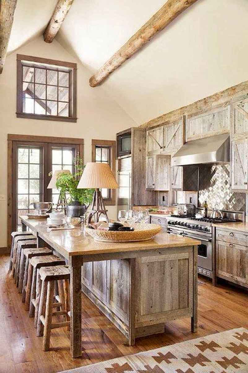 60 Inspiring Rustic Kitchen Decorating Ideas (44)
