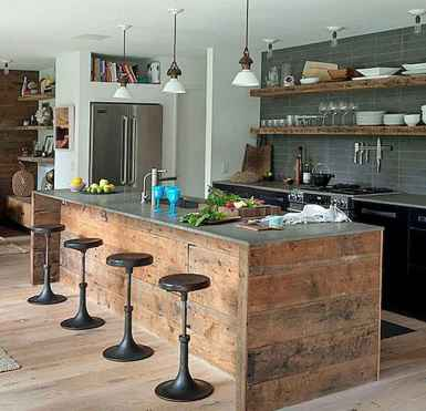 60 Inspiring Rustic Kitchen Decorating Ideas (63)