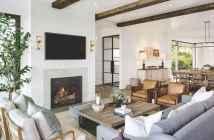 60 Modern Farmhouse Living Room First Apartment Ideas (38)