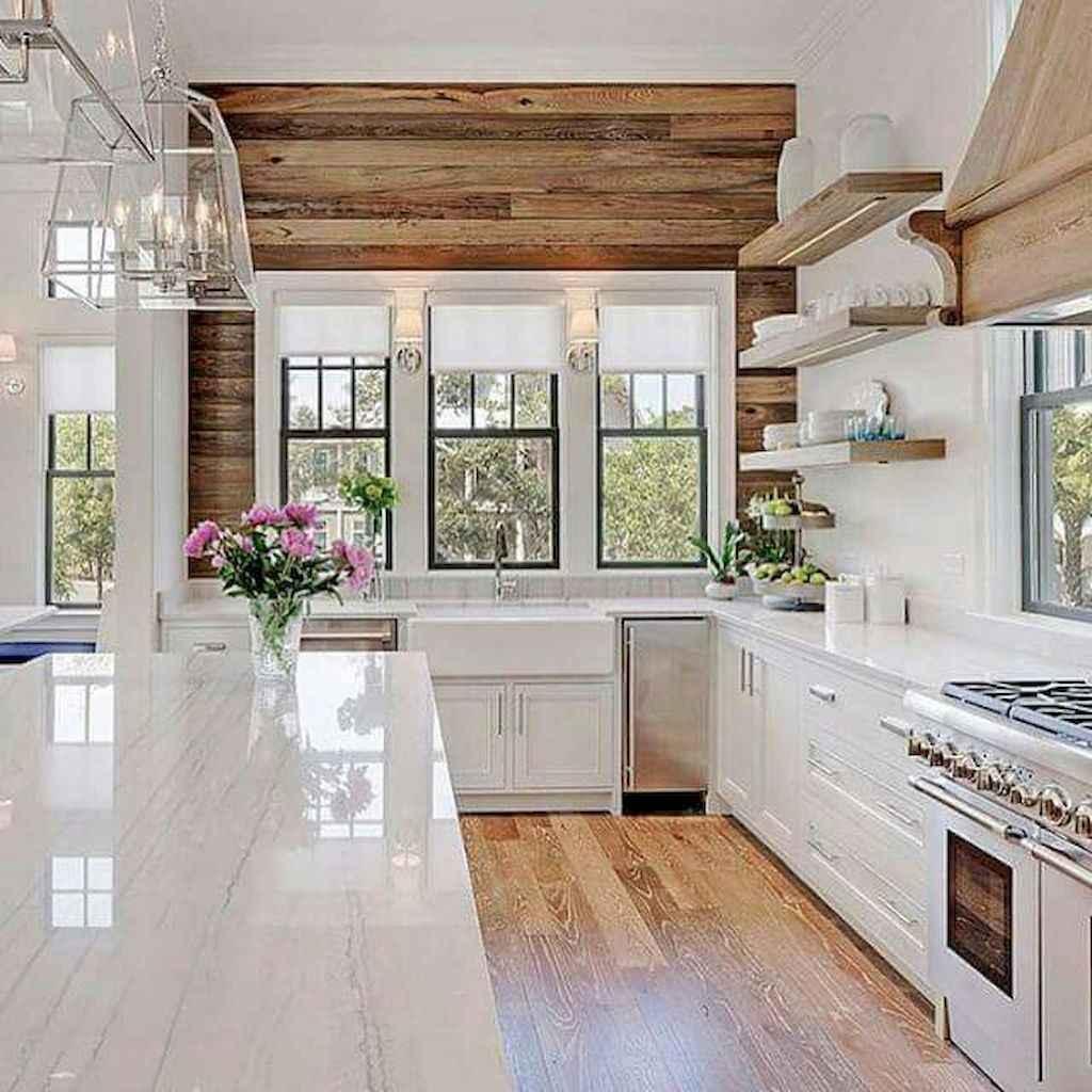 120 Modern Rustic Farmhouse Kitchen Decor Ideas 97