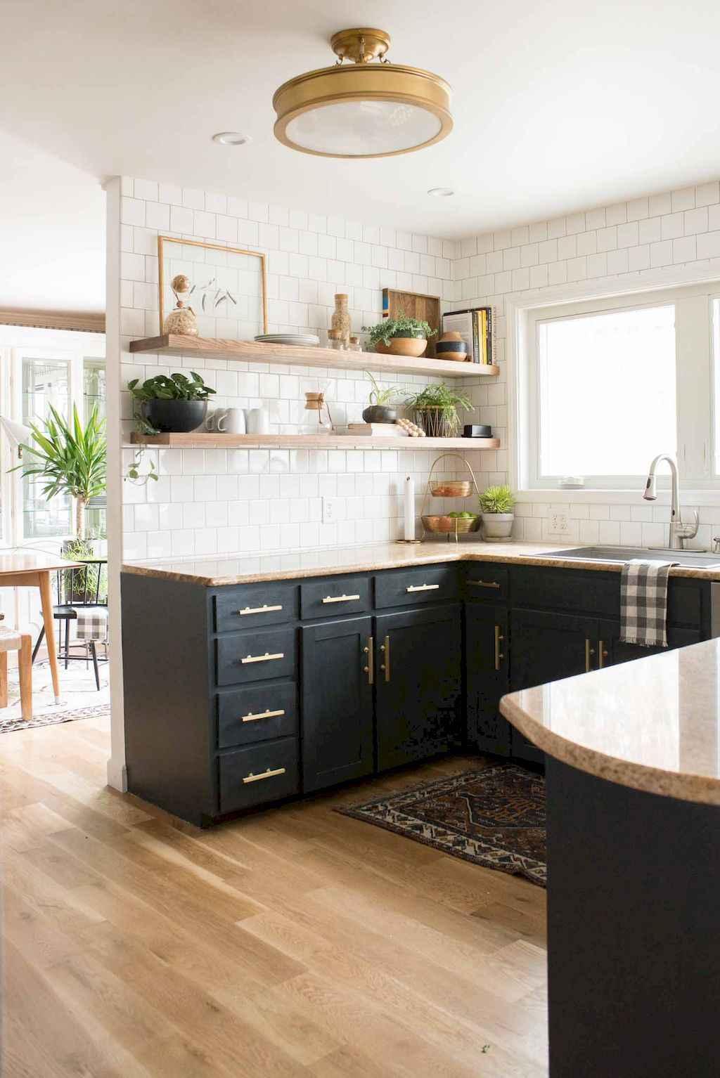 Kitchen Room Illustration: 60 Black Kitchen Cabinets Design Ideas