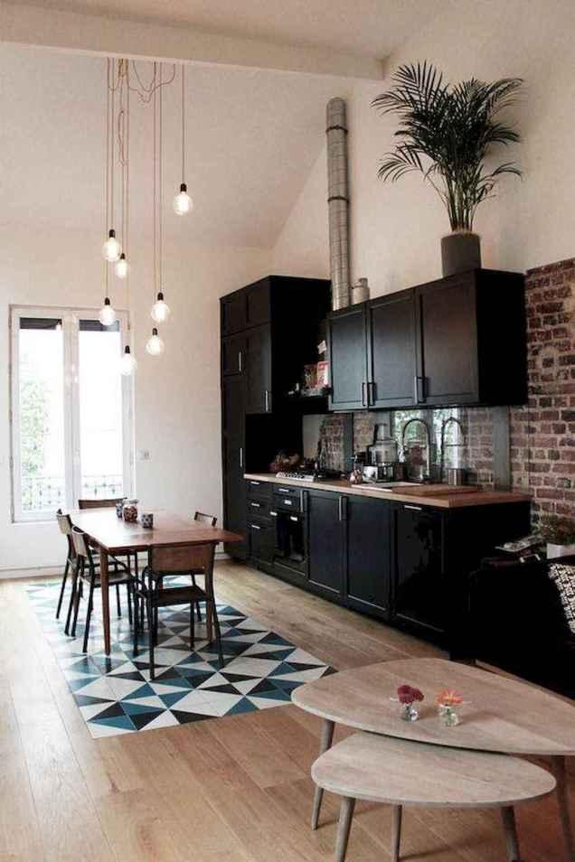 60 Black Kitchen Cabinets Design Ideas (63)