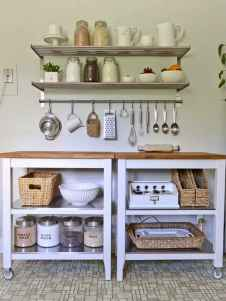 80 Incredible Hanging Rack Kitchen Decor Ideas (15)
