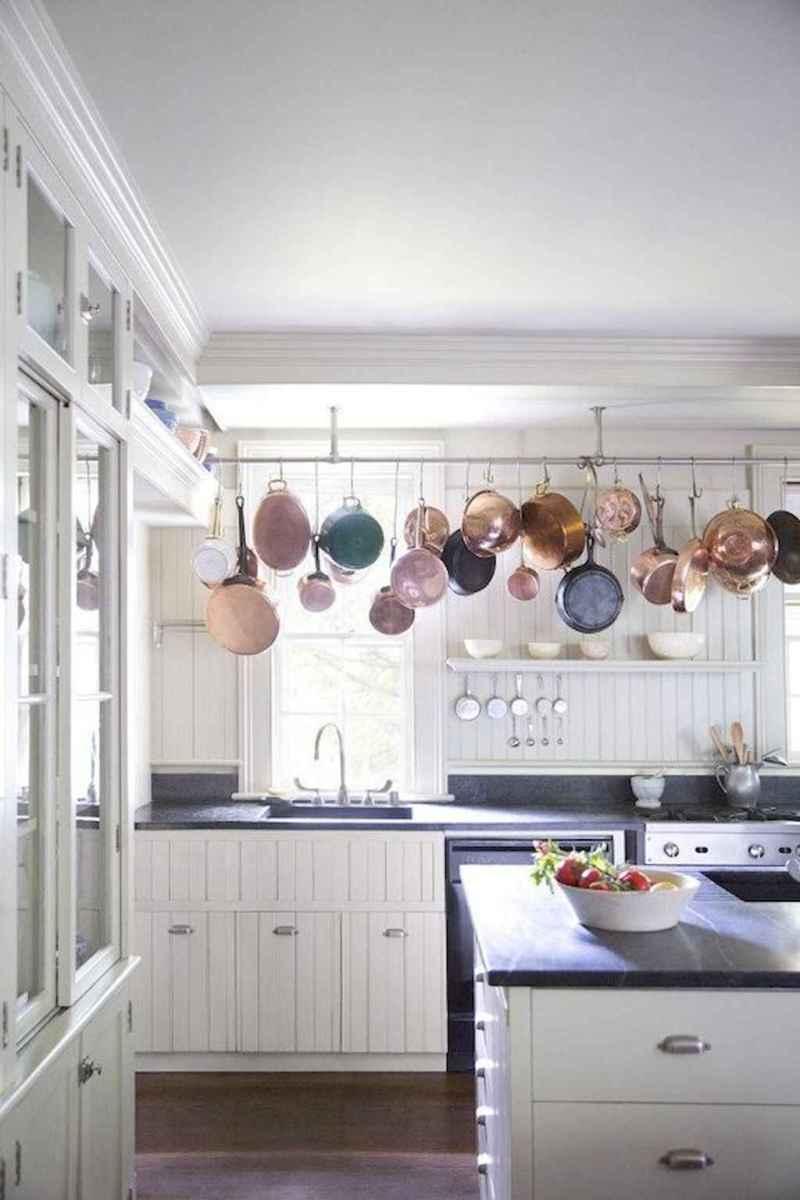 80 Incredible Hanging Rack Kitchen Decor Ideas (17)