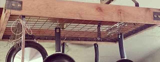 80 Incredible Hanging Rack Kitchen Decor Ideas (45)