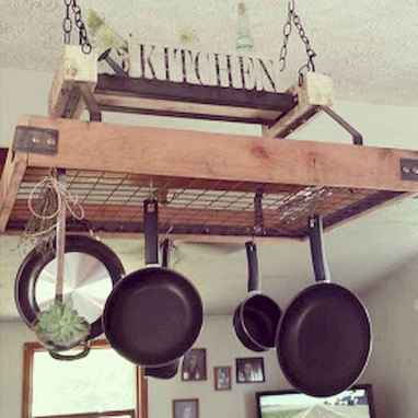 80 Incredible Hanging Rack Kitchen Decor Ideas (45)