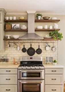 80 Incredible Hanging Rack Kitchen Decor Ideas (9)
