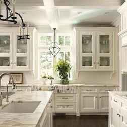 100 Supreme White Kitchen Cabinets Decor Ideas For Farmhouse Style Design (32)