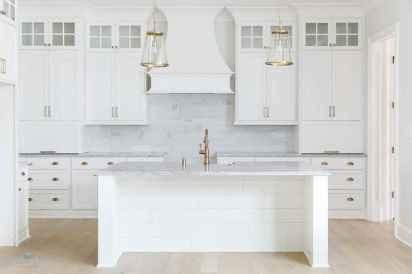 100 Supreme White Kitchen Cabinets Decor Ideas For Farmhouse Style Design (68)