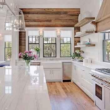 100 Supreme White Kitchen Cabinets Decor Ideas For Farmhouse Style Design (78)