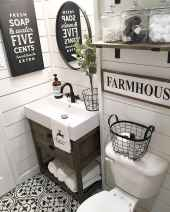 110 Supreme Farmhouse Bathroom Decor Ideas (21)